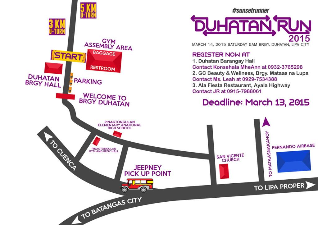 Duhatan Run Map